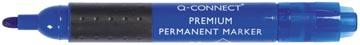 Q-Connect marqueur permanent premium, pointe ronde, bleu