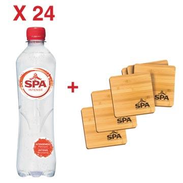 ACTION SPA: 1 x Spa Intense, 50 cl, 24 pièces (réf. 51780) + 1 x GRATUIT sous-verre en bambou