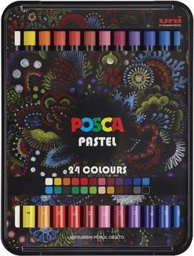 Posca Pastels, boîte de 24 pièces