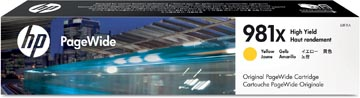 HP PageWide cartouche d'encre 981X, 10.000 pages, OEM L0R11A, jaune