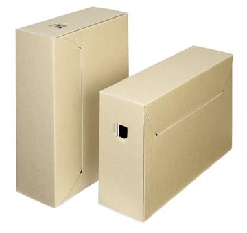 Loeff's archiefdoos City Box 30+, ft 390 x 260 x 115 mm, bruin/wit, pak van 50 stuks