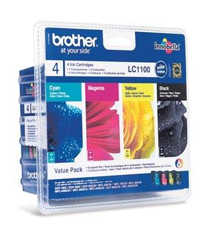 Brother cartouche d'encre, 325 pages, OEM LC-1100VALBP, 4 couleurs