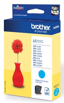 Brother inktcartridge, 300 pagina's, OEM LC-121C, cyaan