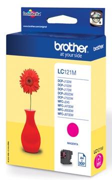 Brother inktcartridge, 300 pagina's, OEM LC-121M, magenta