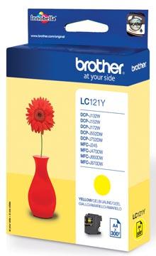 Brother inktcartridge, 300 pagina's, OEM LC-121Y, geel