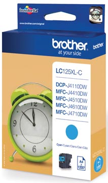 Brother inktcartridge, 1.200 pagina's, OEM LC-125XLC, cyaan