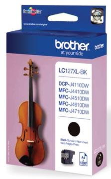 Brother inktcartridge, 1.200 pagina's, OEM LC-127XLBK, zwart
