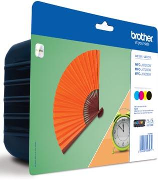 Brother inktcartridge, 2.400 pagina's, OEM LC-129XLVALBPDR, 4 kleuren