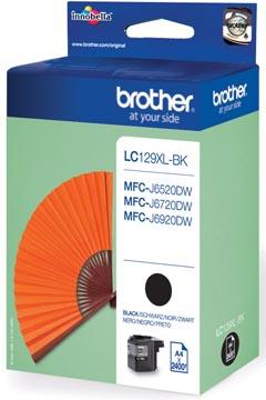 Brother inktcartridge, 2.400 pagina's, OEM LC-129XLBK, zwart