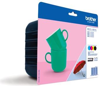 Brother inktcartridge, 1.200 pagina's, OEM LC-227XLVAL, 4 kleuren