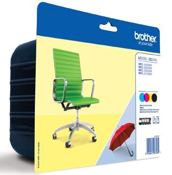 Brother inktcartridge, 2.400 pagina's, OEM LC-229XLVAL, 4 kleuren