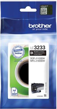 Brother inktcartridge, 3.000 pagina's, OEM LC3233BK, zwart