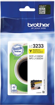 Brother cartouche d'encre, 1.500 pages, OEM LC3233Y, jaune