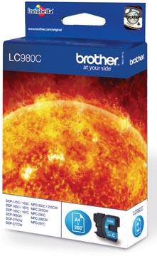 Brother inktcartridge, 260 pagina's, OEM LC-980C, cyaan