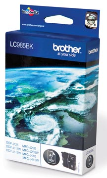 Brother inktcartridge, 300 pagina's, OEM LC-985BK, zwart