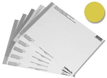 Elba ruiterstrook type 8, vel met 54 etiketten, geel