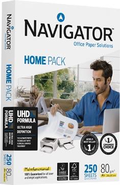 Navigator Home Pack papier d'impression ft A4, 80 g, paquet de 250 feuilles
