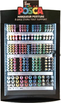 Posca paintmarkers, display van 281 stuks, met geassorteerde punten, in geassorteerde kleuren