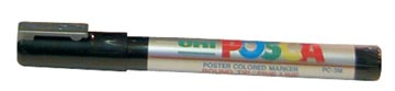 uni-ball Paint Marker op waterbasis Posca PC-3M zilver