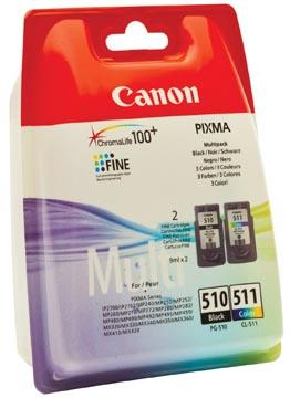 Canon cartouche d'encre PG-510 en CL-511, 220 pages, OEM 2970B010, 4 couleurs
