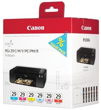 Canon cartouche d'encre PGI-29, 724 pages, OEM 4873B005, 6 couleurs