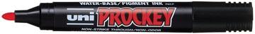 Uni marqueur pour tableaux de confér Prockey PM122 rouge