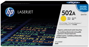 HP toner 502A, 4 000 pages, OEM Q6472A, jaune