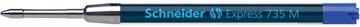 Schneider balpenvulling 735 blauw, medium punt
