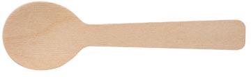 Cuillère à café en bois, 96 mm, paquet de 100 pièces