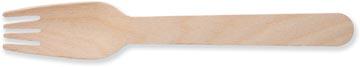 Fourchette en bois, 160 mm, paquet de 100 pièces
