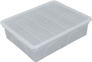 Whitefurze Spacemaster boîte de rangement 12 litre, paquet de 3 pièces, transparent