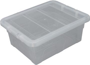 Whitefurze Spacemaster boîte de rangement 15 litre, paquet de 3 pièces, transparent