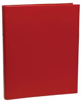 classeur pour ft A4, 2 anneaux de 25 mm, en PVC, rouge