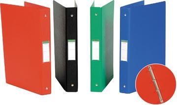Ringmap voor ft A4, 4 ringen van 25 mm, uit PVC, geassorteerde kleuren