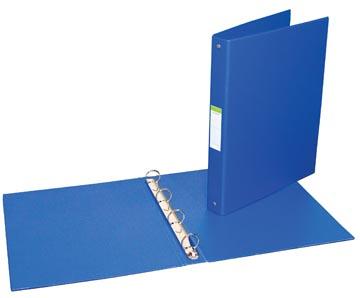 Ringmap voor ft A4, 4 ringen van 25 mm, uit PVC, blauw