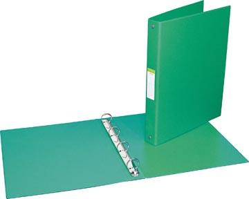 Ringmap voor ft A4, 4 ringen van 25 mm, uit PVC, groen