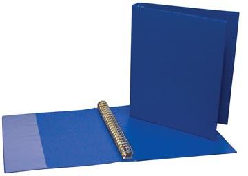 Ringmap voor ft A4, 23 ringen van 24 mm, uit PVC, blauw