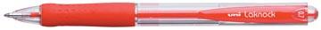 Uni-ball stylo bille Laknock largeur de trait: 0,3 mm, bille: 0,7 mm, pointe fine, rouge