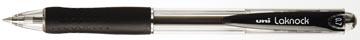 Uni-ball stylo bille Laknock largeur de trait: 0,3 mm, bille: 0,7 mm, pointe fine, noir