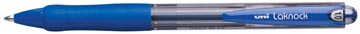 Uni-ball stylo bille Laknock largeur de trait: 0,4 mm, bille: 1 mm, pointe moyenne, bleu