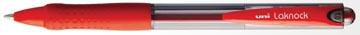 Uni-ball stylo bille Laknock largeur de trait: 0,4 mm, bille: 1 mm, pointe moyenne, rouge