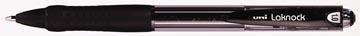 Uni-ball balpennen Laknock schrijfbreedte 0,4 mm, schrijfpunt: 1 mm, medium punt, zwart