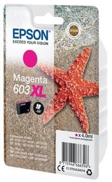 Epson cartouche d'encre 603 XL, 4 ml, OEM C13T03A34010, magenta