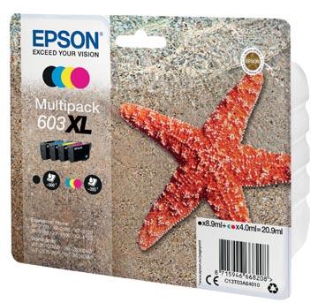 Epson cartouche d'encre 603 XL, 20,9 ml, OEM C13T03A64010, 4 couleurs