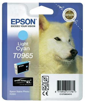 Epson inktcartridge T0965, 865 pagina's, OEM C13T09654010, licht cyaan
