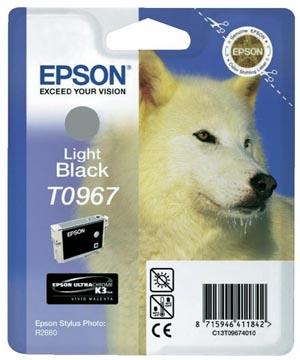 Epson inktcartridge T0967, 6.210 pagina's, OEM C13T09674010, grijs