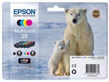 Epson inktcartridge T2616, 220-230 pagina's, OEM C13T26164010, 4 kleuren