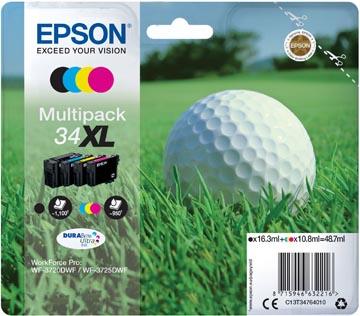 Epson inktcartridge 34XL, 950 pagina's, OEM C13T34764010, 4 kleuren