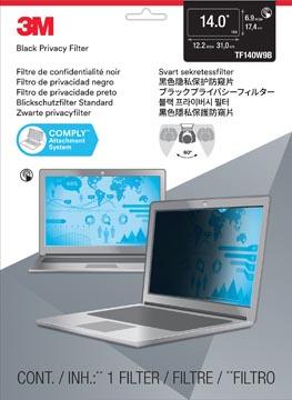 3M filtre de confidentialité pour ordinateur portable à écran panoramique, 14 pouces, noir