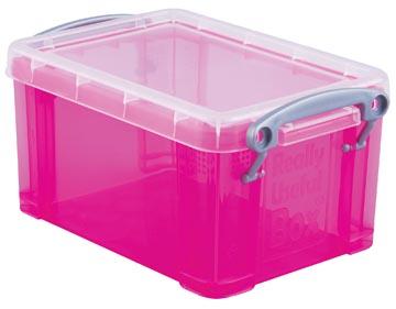 Really Useful Box 0,7 liter, transparant helroze